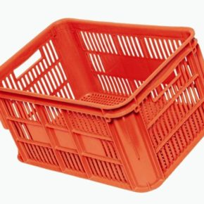 Orange Vented Crate
